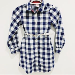 🌟4/$20 Gymboree Blue/White Gingham Belted Dress